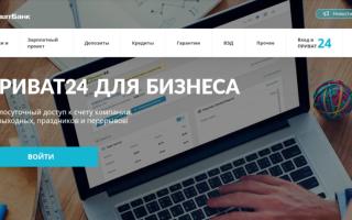 Основні можливості сервісу Приват24 для бізнесу