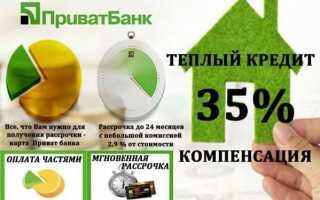 «Теплий» кредит від ПриватБанку: докладні умови